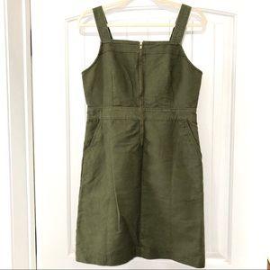 NWT J. Crew Hunter Green Overall Jumper Dress